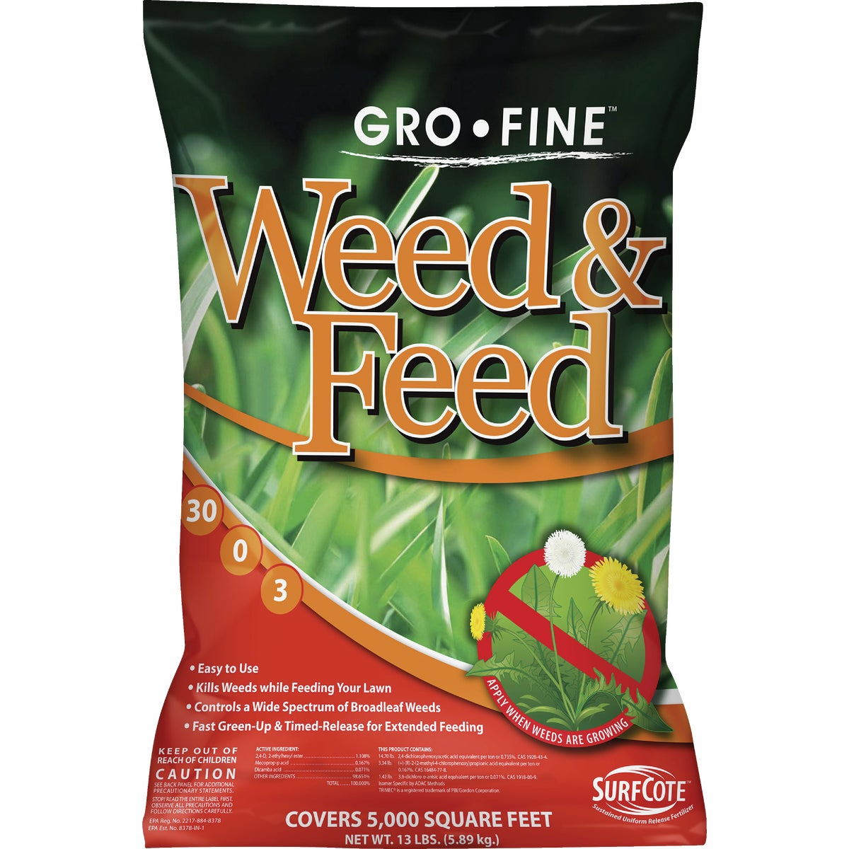 5M WEED & FEED P-FREE - FRT223DS1.2 by Andersons Lawn Gdn