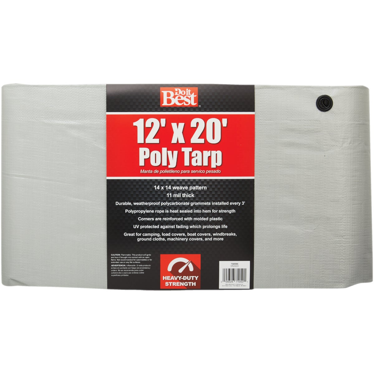 12X20 SLVR H/DUTY TARP - 768596 by Do it Best