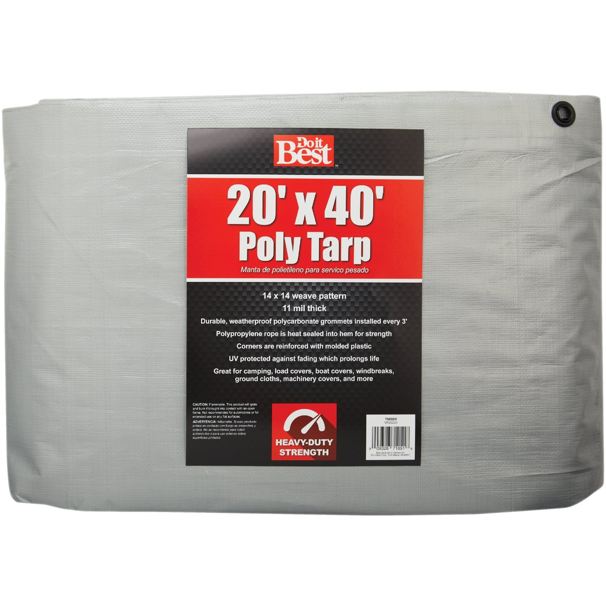 20X40 SLVR H/DUTY TARP - 768609 by Do it Best