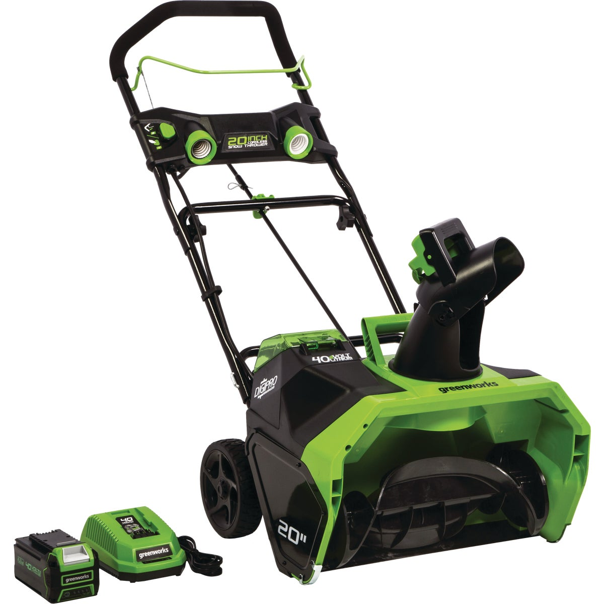 Greenworks DigiPro G-MAX 40V Cordless Snow Blower, 26272