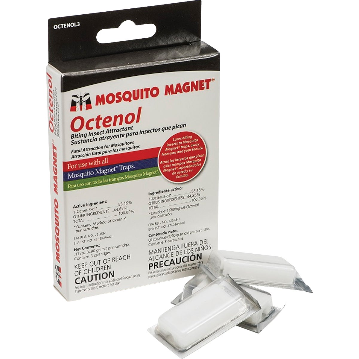 3 PACK OCTENOL CARTRIDGE - OCTENOL3 by Woodstream Corp