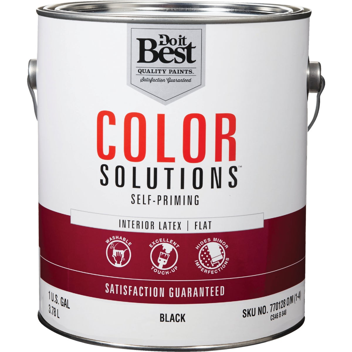 INT FLAT BLACK PAINT - CS46B0848-16 by Do it Best