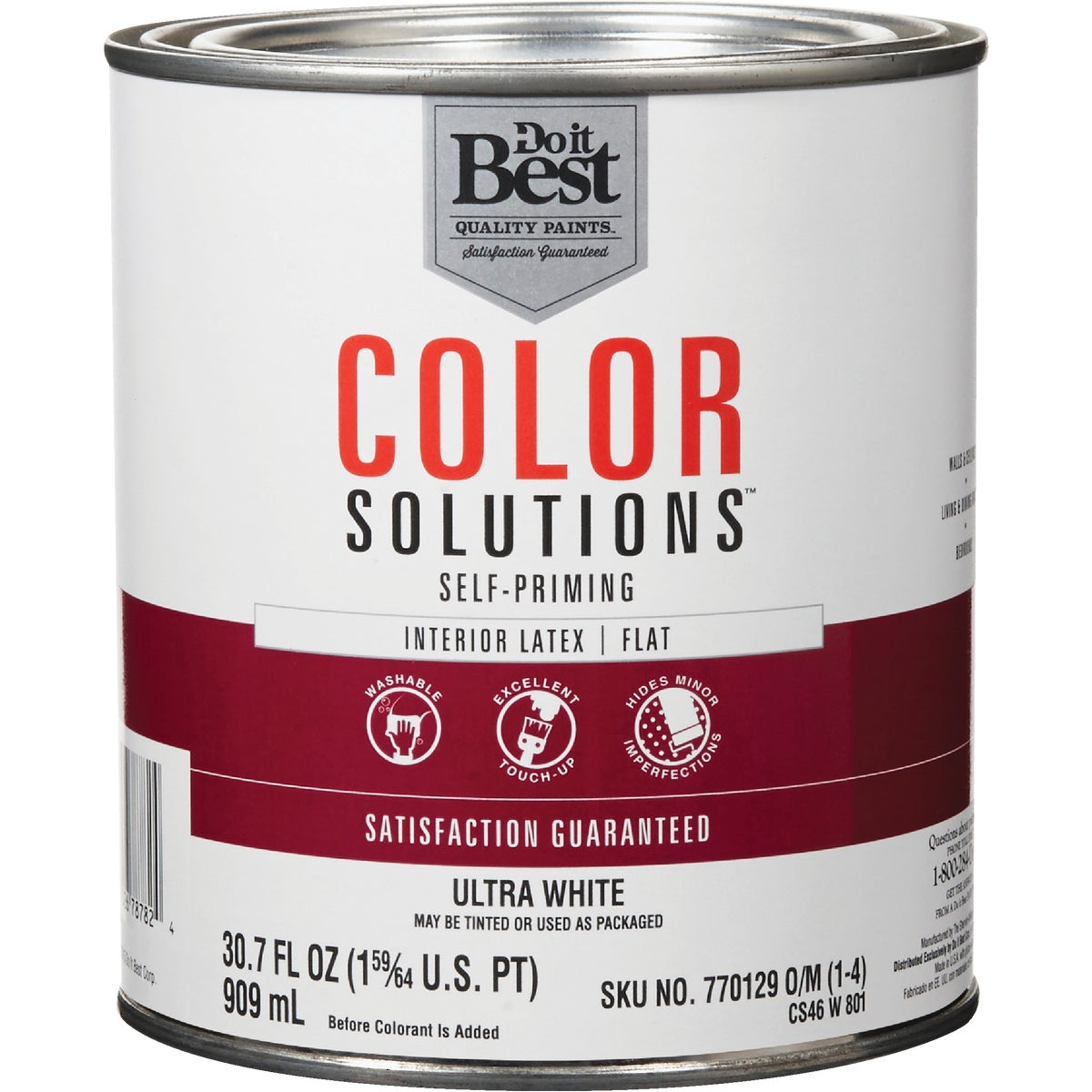 INT FLAT WHITE PAINT - CS46W0801-14 by Do it Best