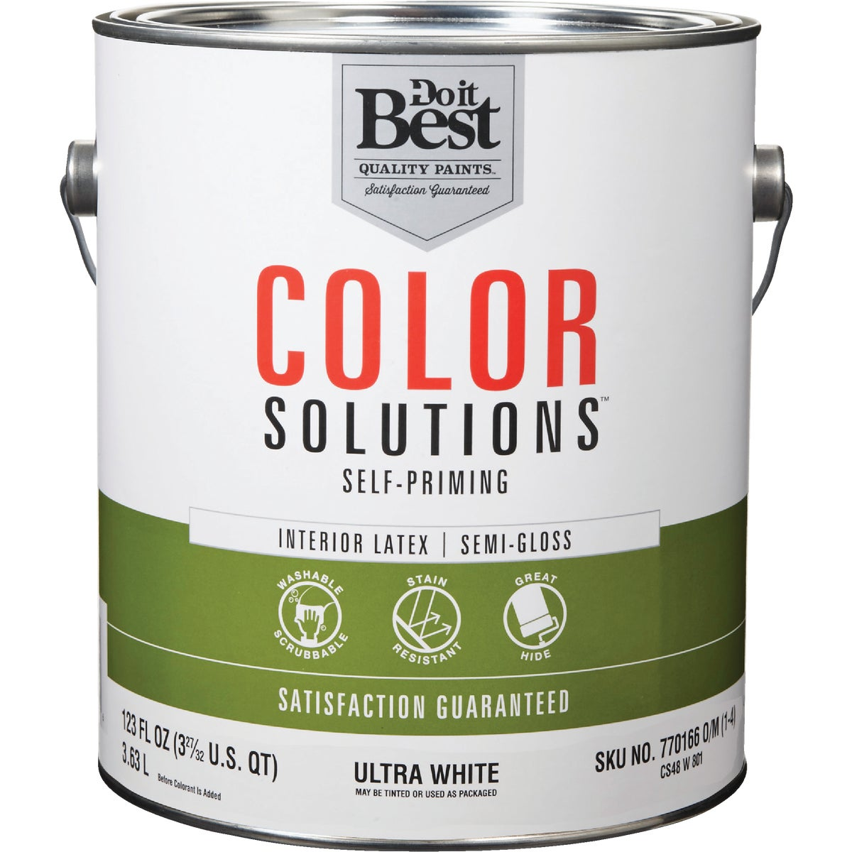 INT S/G ULTRA WHT PAINT - CS48W0801-16 by Do it Best