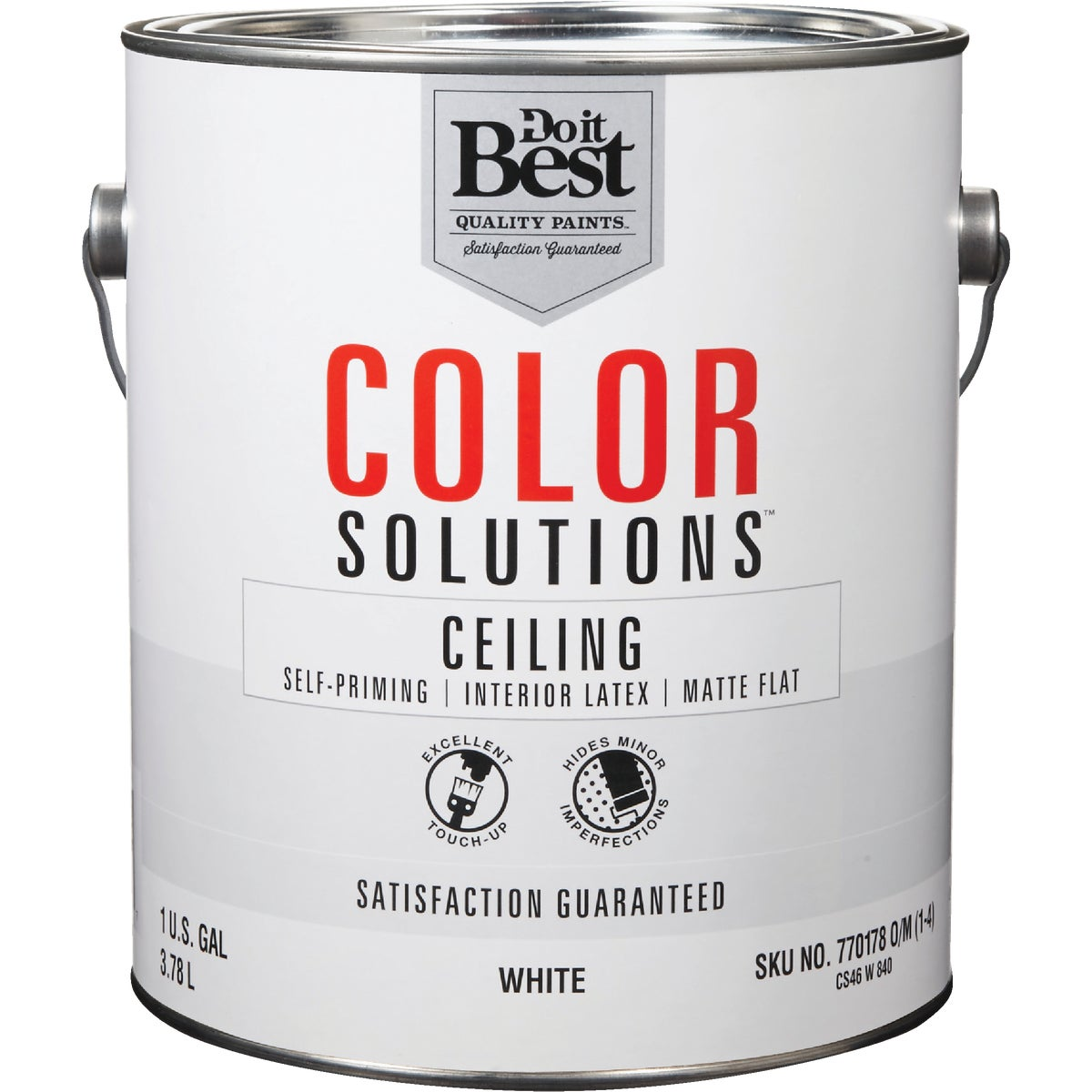 FLAT WHITE CEILING PAINT - CS46W0840-16 by Do it Best