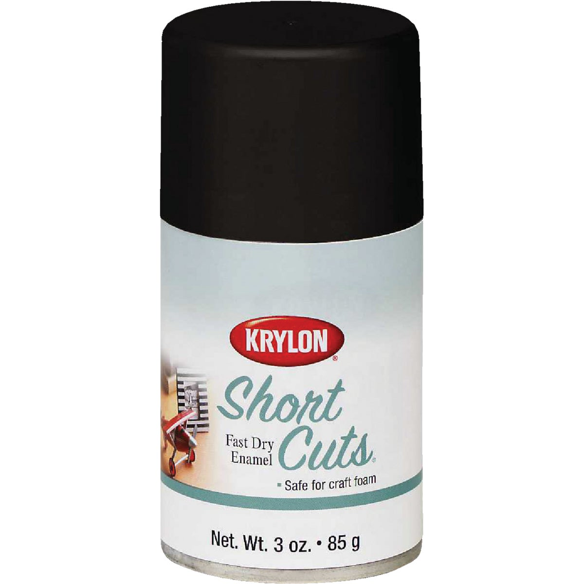 FLAT BLACK SPRAY ENAMEL - SCS-056 by Krylon/consumer Div