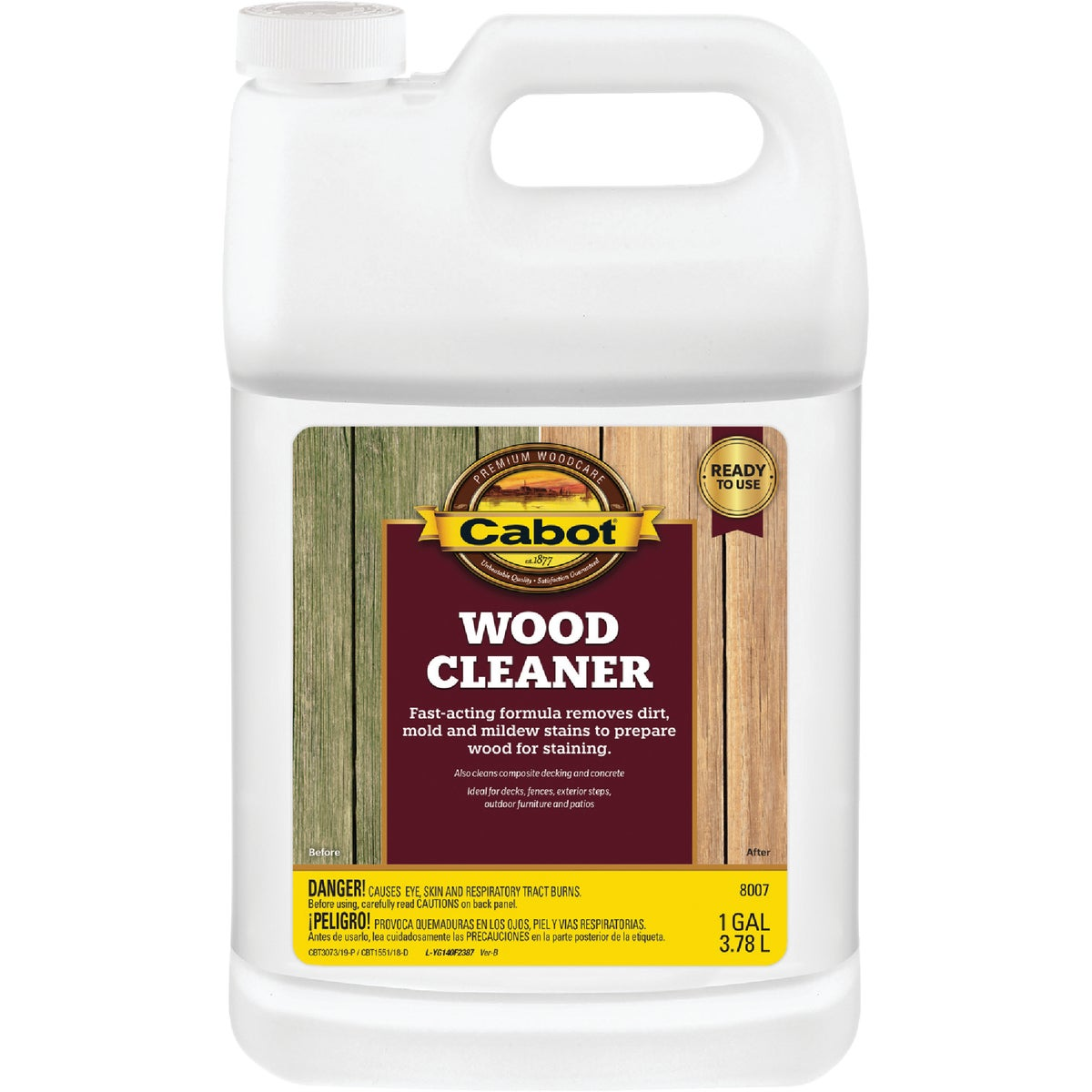 READY USE WOOD CLEANER - 140.0008007.007 by Valspar Corp