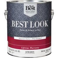 Best Look Latex Paint & Primer In One Flat Enamel Interior Wall Paint, HW36W0700-16