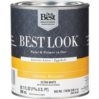 Best Look Latex Paint & Primer In One Eggshell Interior Wall Paint, HW34W0800-14