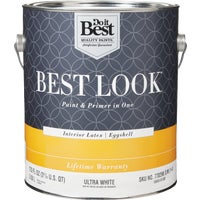 Best Look Latex Paint & Primer In One Eggshell Interior Wall Paint, HW34W0800-16