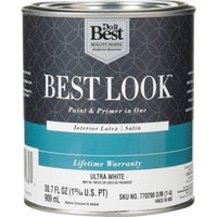 Best Look Latex Paint & Primer In One Satin Interior Wall Paint, HW33W0800-14