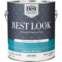 Best Look Latex Paint & Primer In One Satin Interior Wall Paint, HW33W0800-16