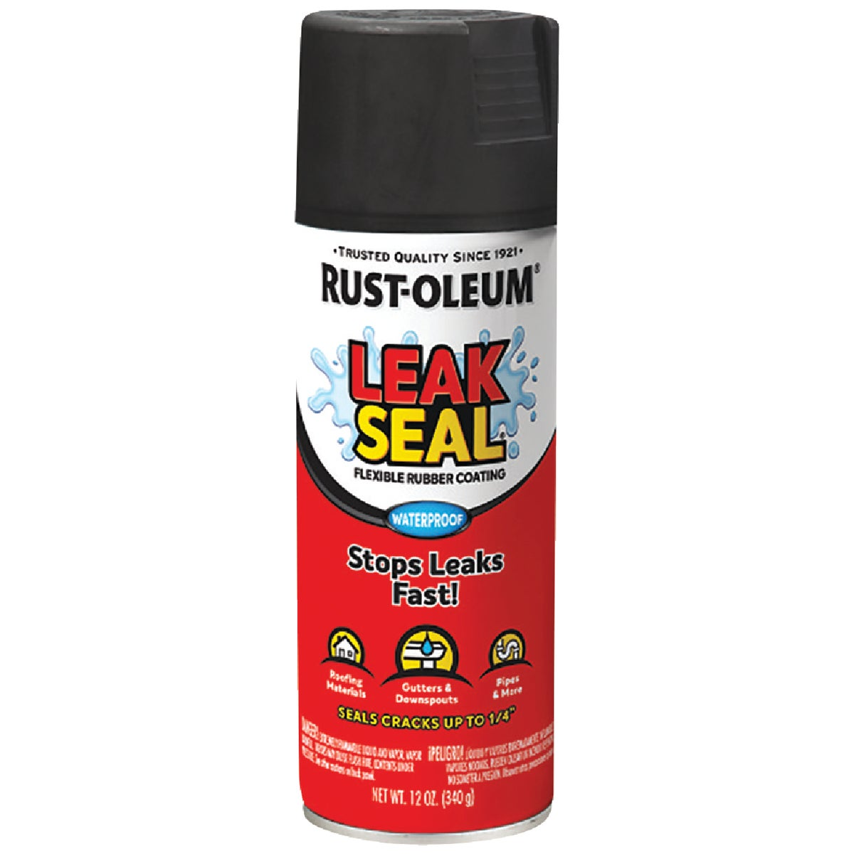 SPRAY BLACK LEAK SEALER - 265494 by Rustoleum