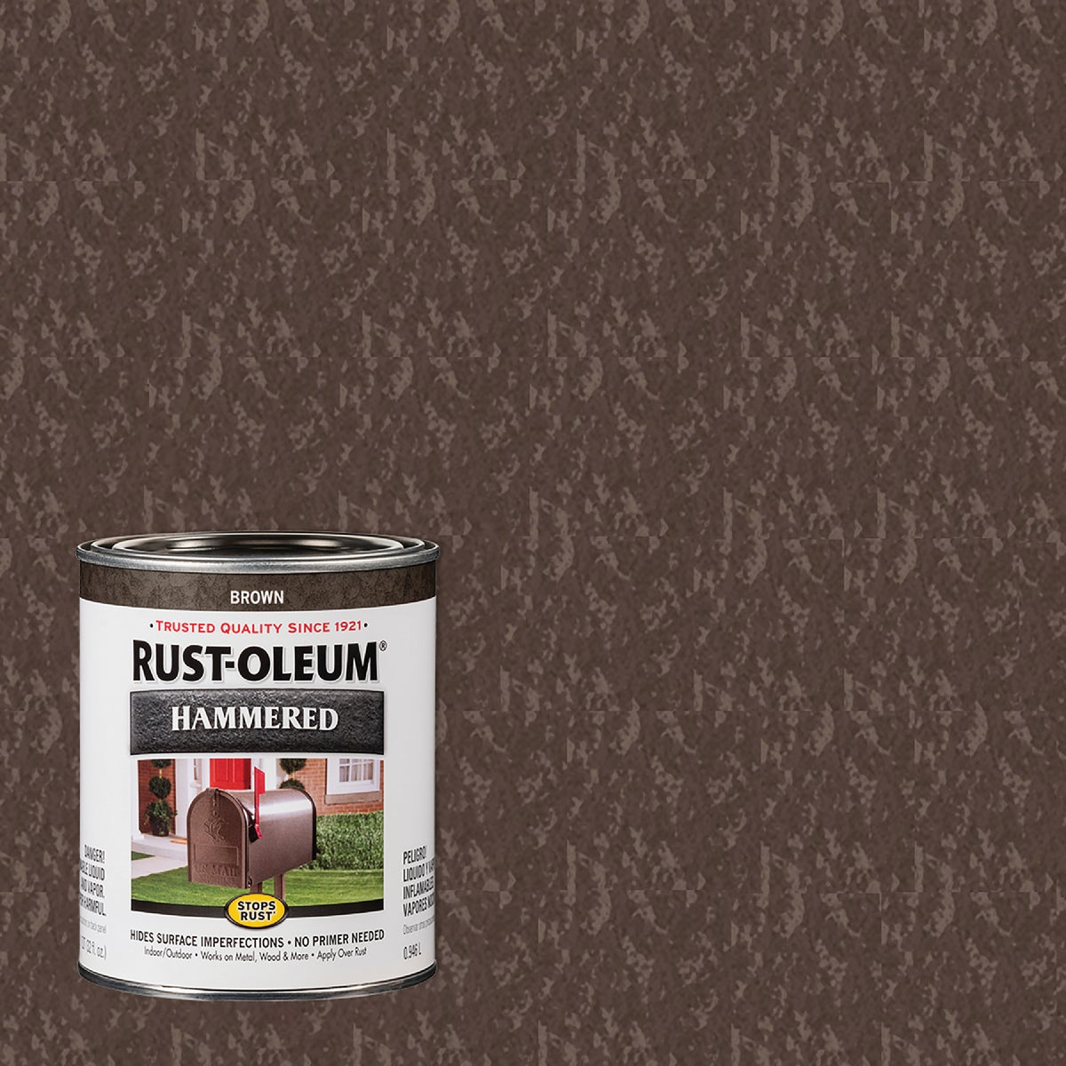 BROWN HAMMERED PAINT - 239073 by Rustoleum