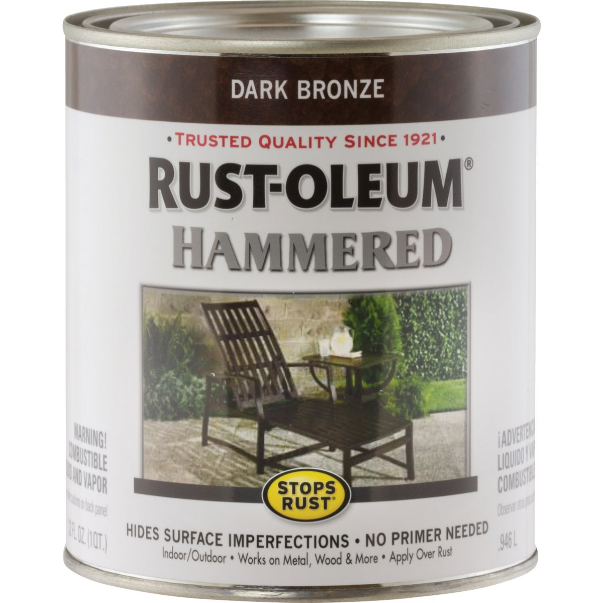 Rust Oleum DK BRONZE HAMMERED PAINT 239075