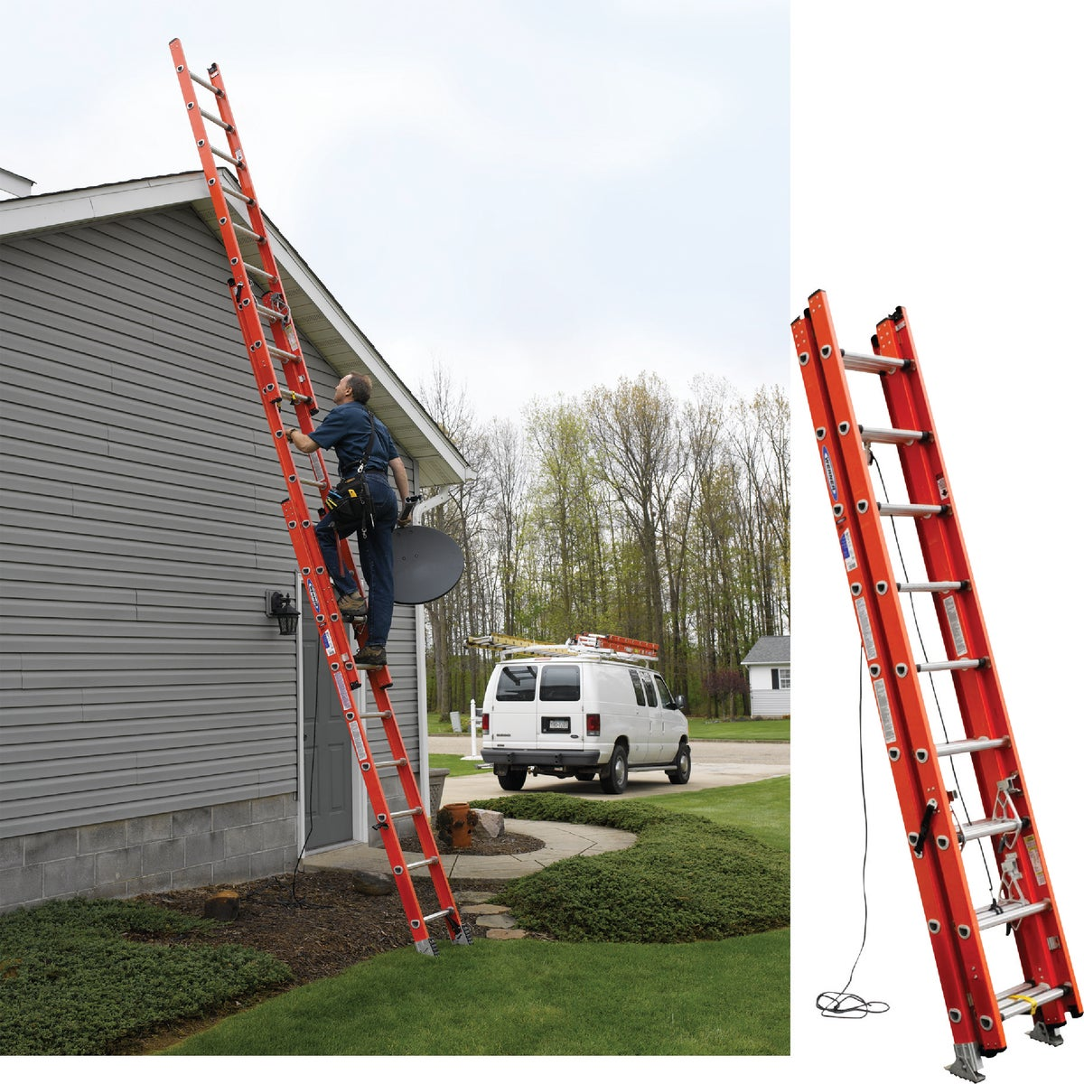 24' FG COMP EXT LADDER