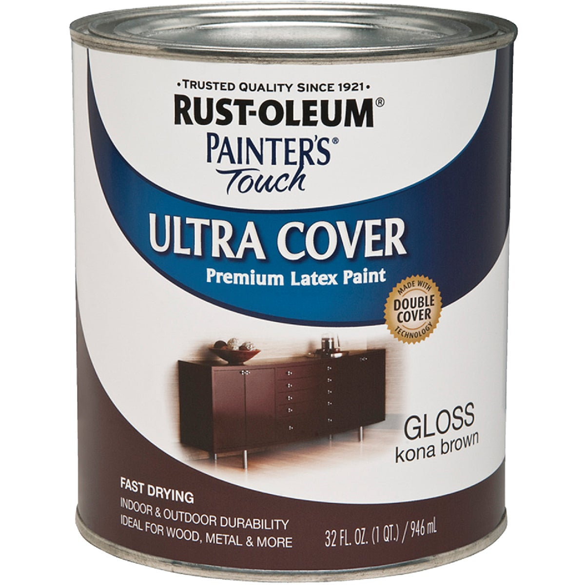 KONA BROWN LATEX PAINT - 1977502 by Rustoleum