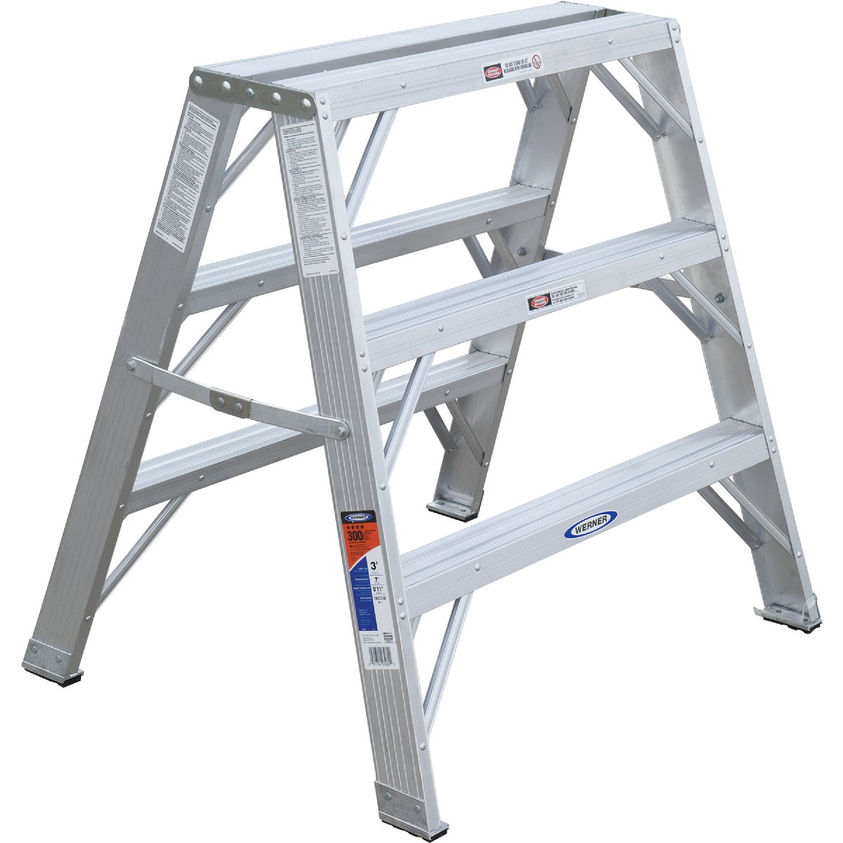 3' ALUM TWIN STEP - TW373-30 by Werner Ladder