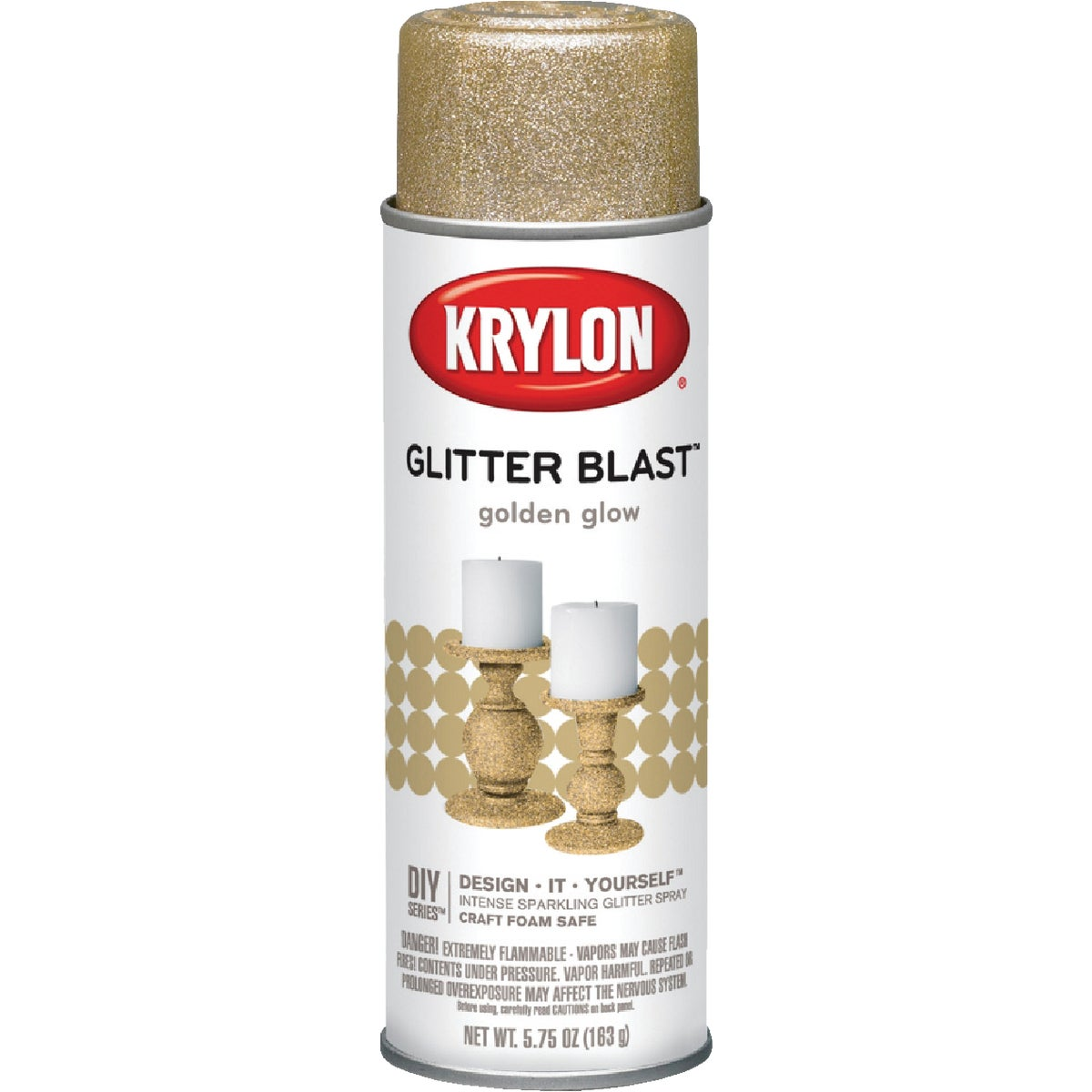 GOLDEN FLW GLITTER SPRAY - K03801000 by Krylon/consumer Div
