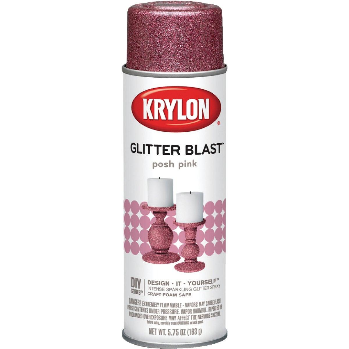 POSH PINK GLITTER SPRAY - K03812000 by Krylon/consumer Div