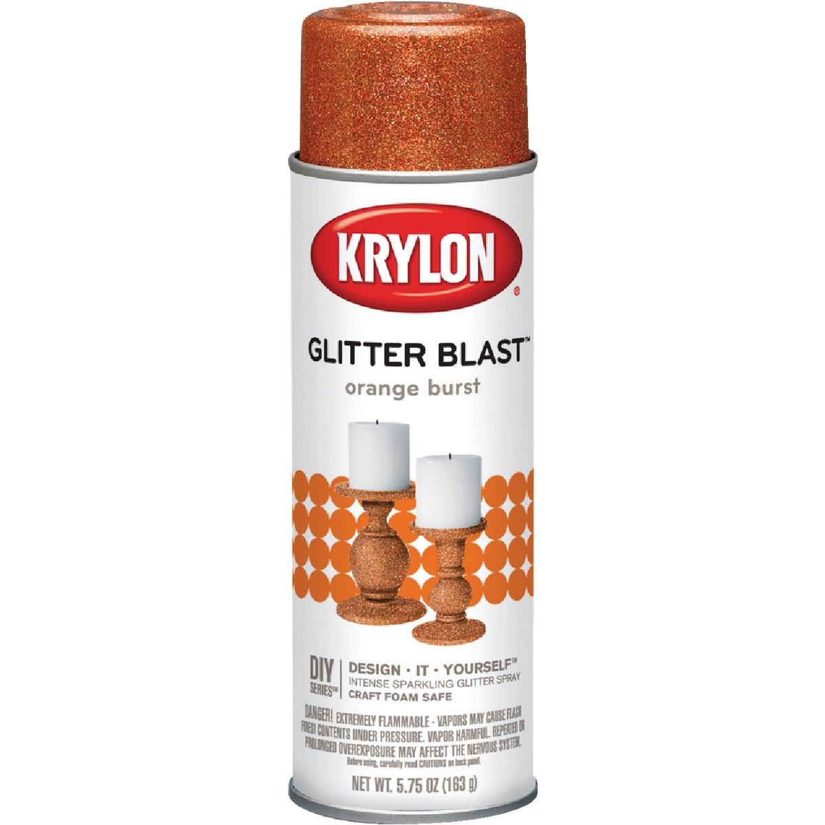 ORNG BURST GLITTER SPRAY - K03870000 by Krylon/consumer Div