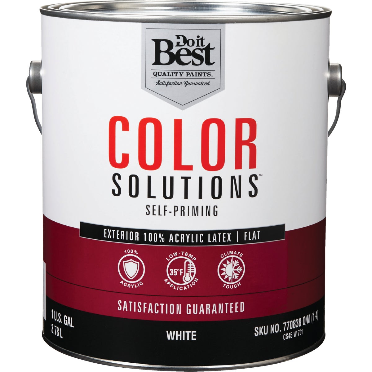 EXT FLAT WHITE PAINT - CS45W0701-16 by Do it Best