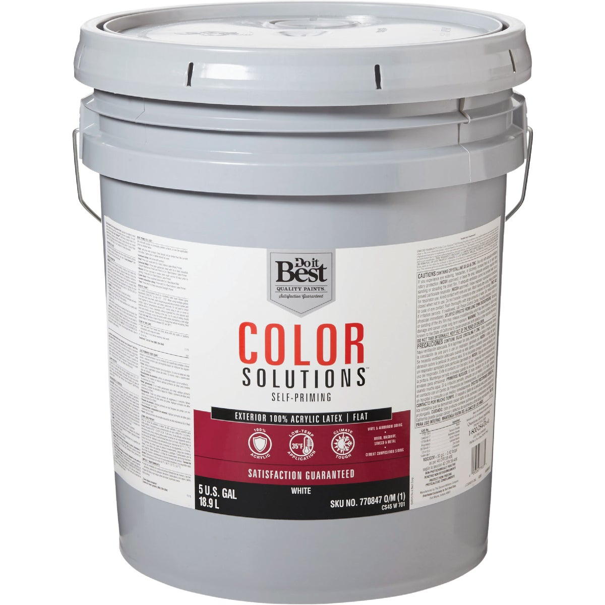 EXT FLAT WHITE PAINT - CS45W0701-20 by Do it Best