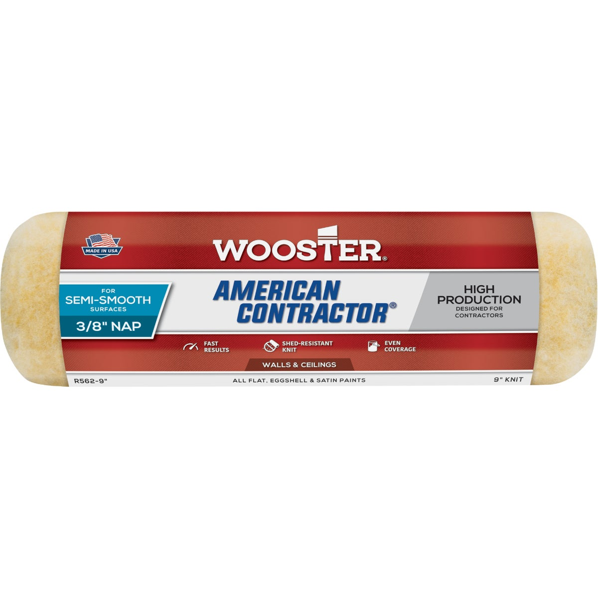 Wooster American Contractor Knit Fabric Roller Cover, R562-9