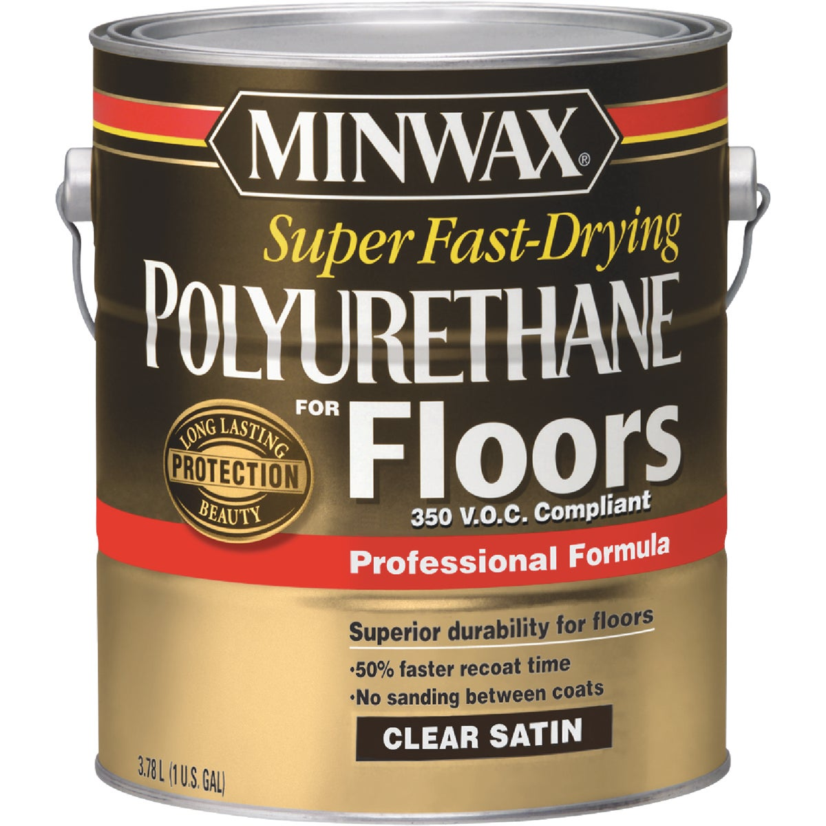 VOC SATIN FLOOR POLY - 13025 by Minwax Company