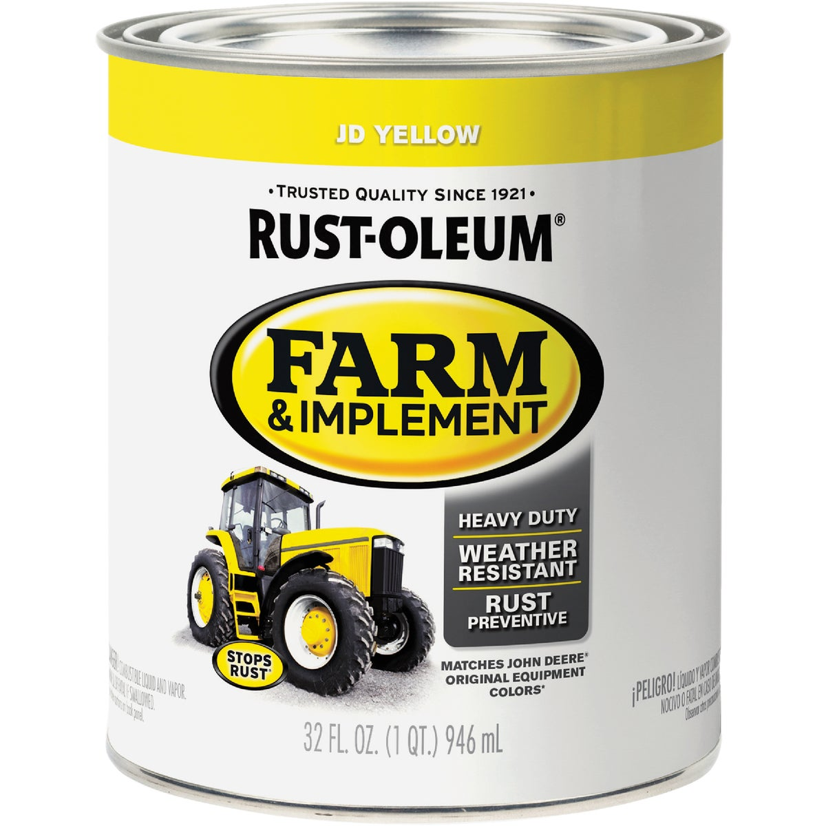 JD YELLOW IMPLMNT ENAMEL - 7443-502 by Rustoleum