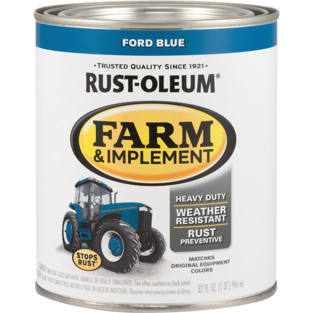 FORD BLUE IMPLMNT ENAMEL - 7424-502 by Rustoleum