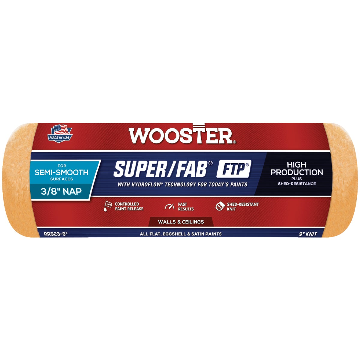 9X3/8 FTP ROLLER COVER - RR923-9 by Wooster Brush Co