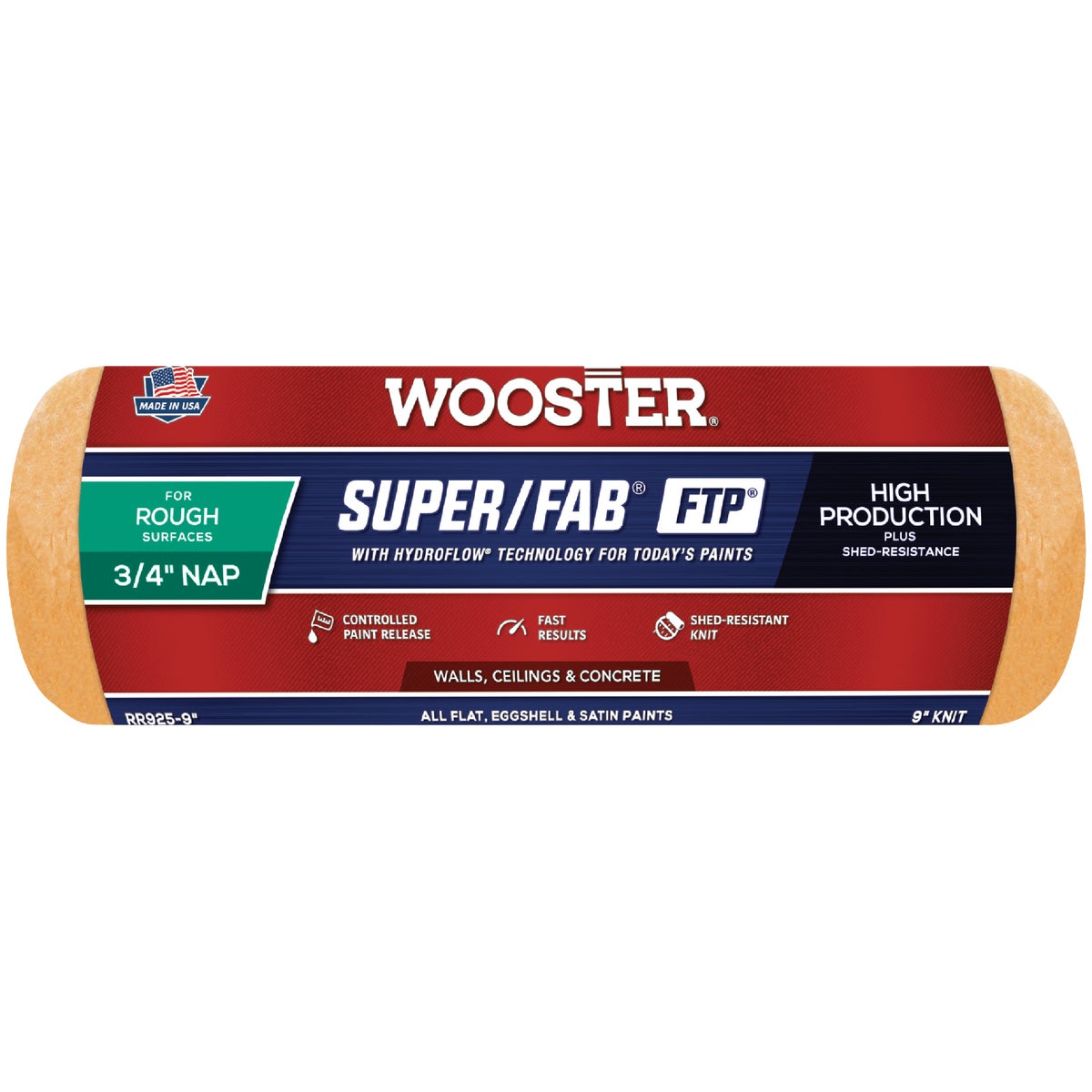 9X3/4 FTP ROLLER COVER - RR925-9 by Wooster Brush Co