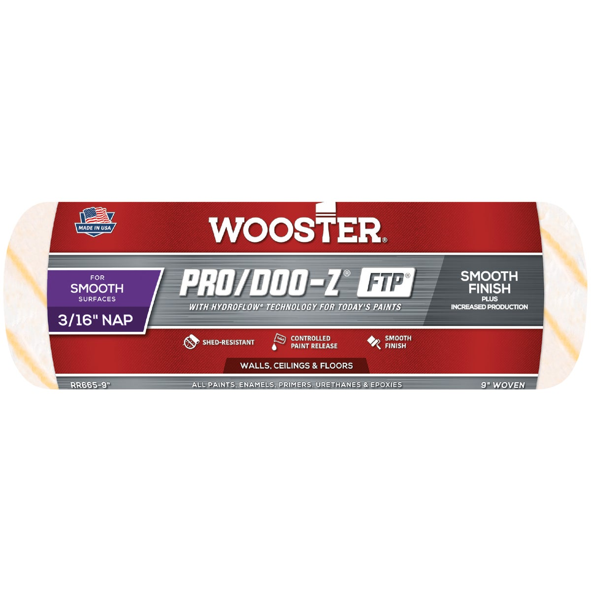 9X3/16 ROLLER COVER - RR641-9 by Wooster Brush Co