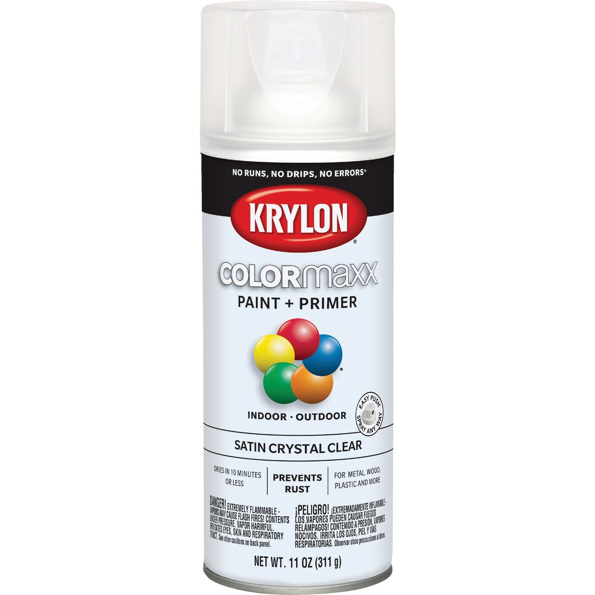 CLEAR SATIN SPRAY FINISH - 51313 by Krylon/consumer Div