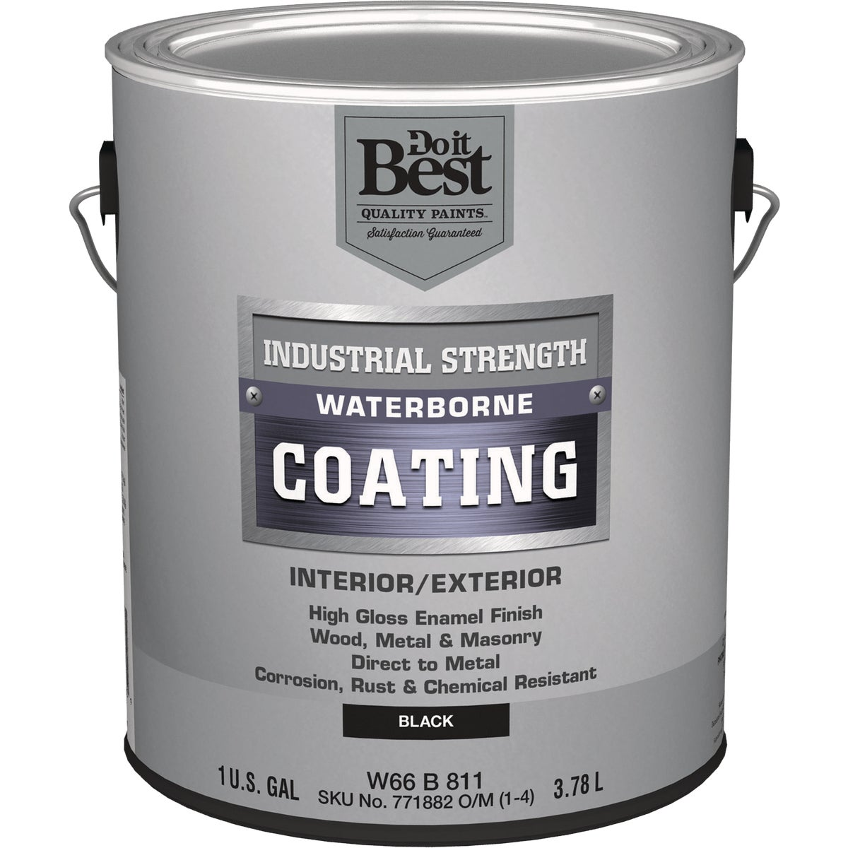 GLS BLACK LATEX PAINT - W66B00811-16 by Do it Best