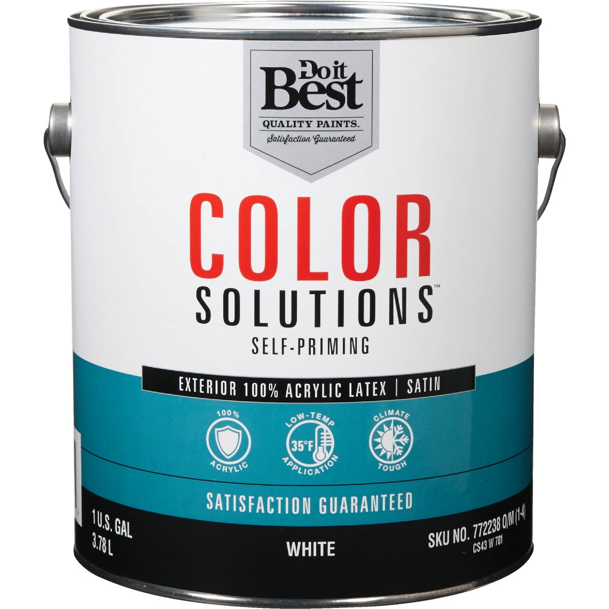 EXT SATIN WHITE PAINT - CS43W0701-16 by Do it Best