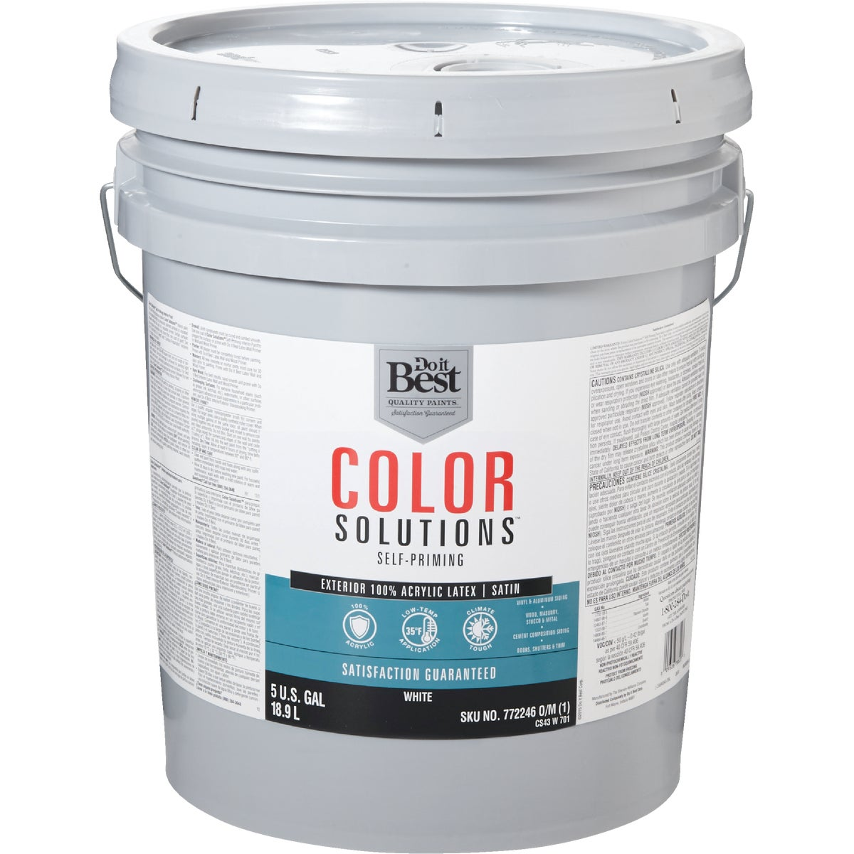 EXT SATIN WHITE PAINT - CS43W0701-20 by Do it Best