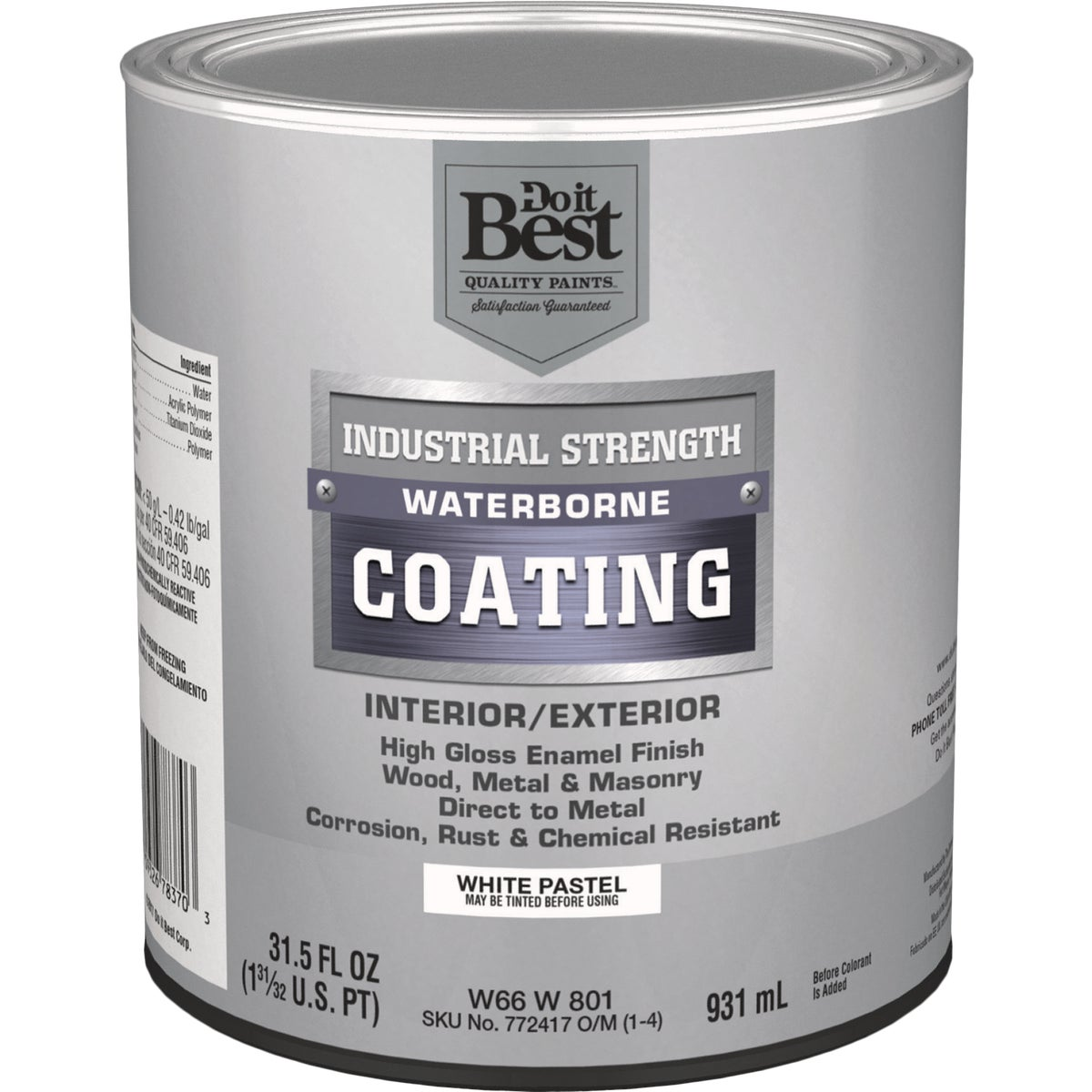 GLS PSTL/WHT LATEX PAINT - W66W00801-44 by Do it Best