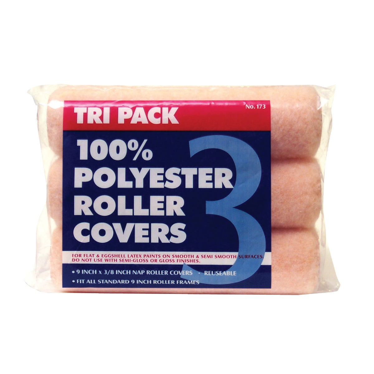 3PK 9X3/8 ROLLER COVERS - 1730 by Premier Paint Roller