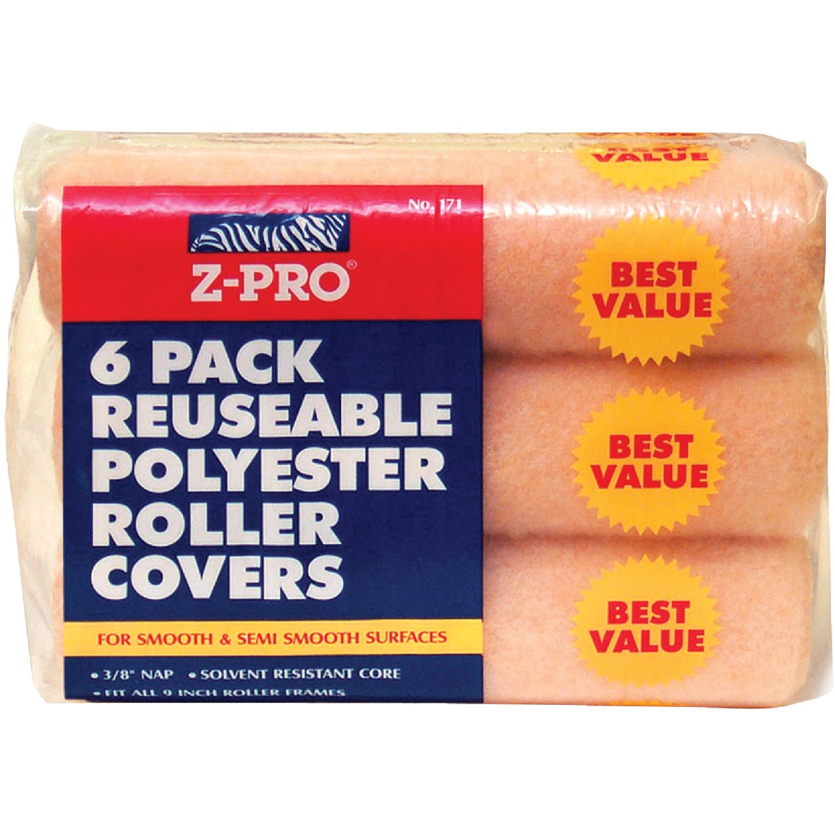 6PK 9X3/8 ROLLER COVERS