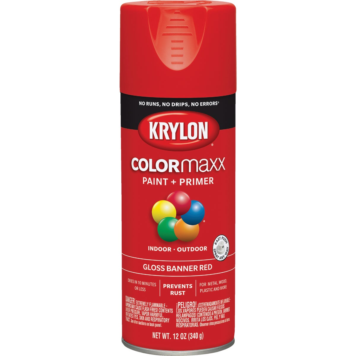 GLS BNNR RED SPRAY PAINT - 52108 by Krylon/consumer Div