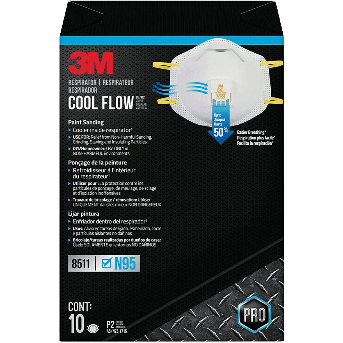 10CT SANDING RESPIRATOR - 8511PB1-A by 3m Co