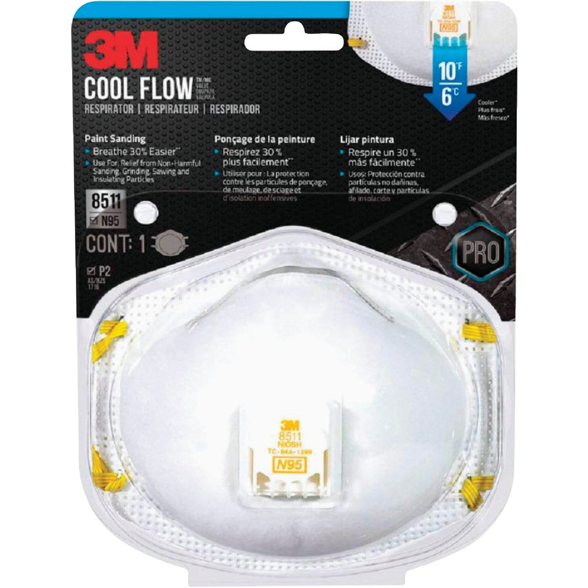 SANDING RESPIRATOR - 8511PA1-A by 3m Co