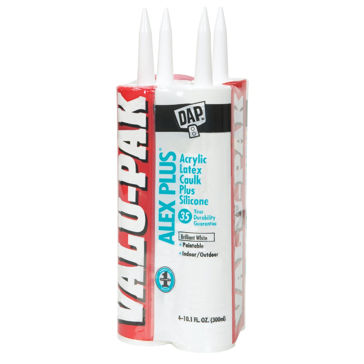 4PK WHT ALEX PLUS CAULK