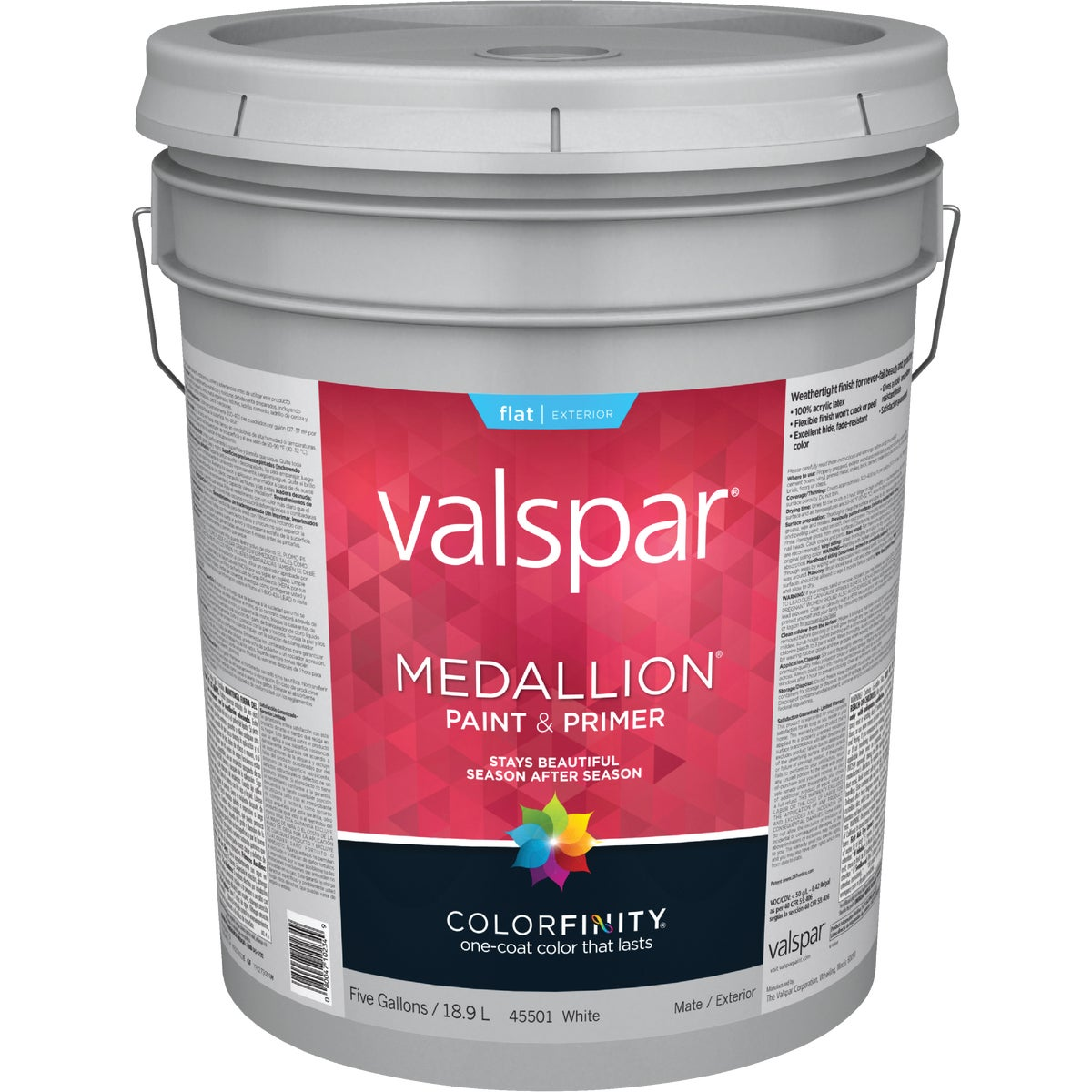 EXT FLAT WHITE PAINT - 027.0045501.008 by Valspar Corp