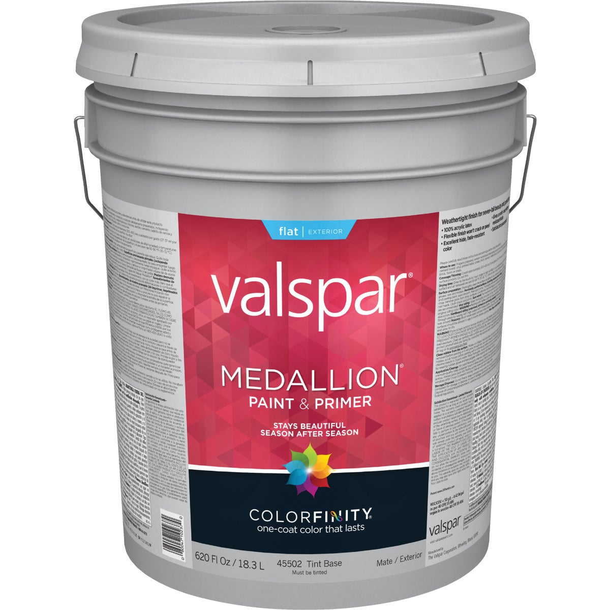 Valspar Medallion 100 Acrylic Exterior Flat Latex House Paint Ebay