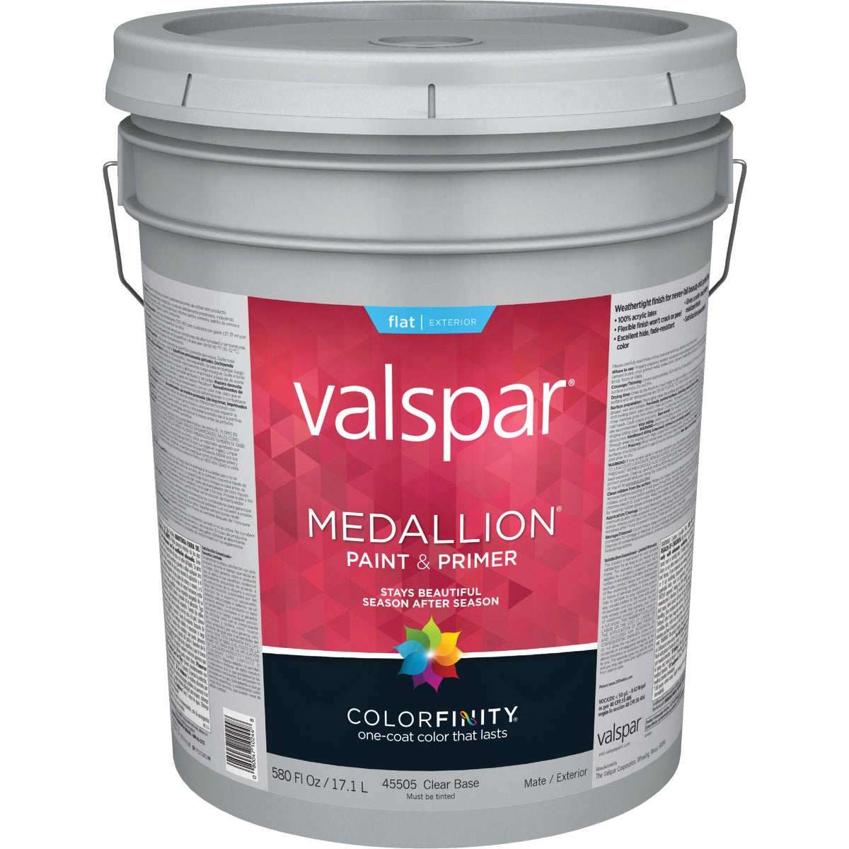 EXT FLAT CLEAR BS PAINT - 027.0045505.008 by Valspar Corp