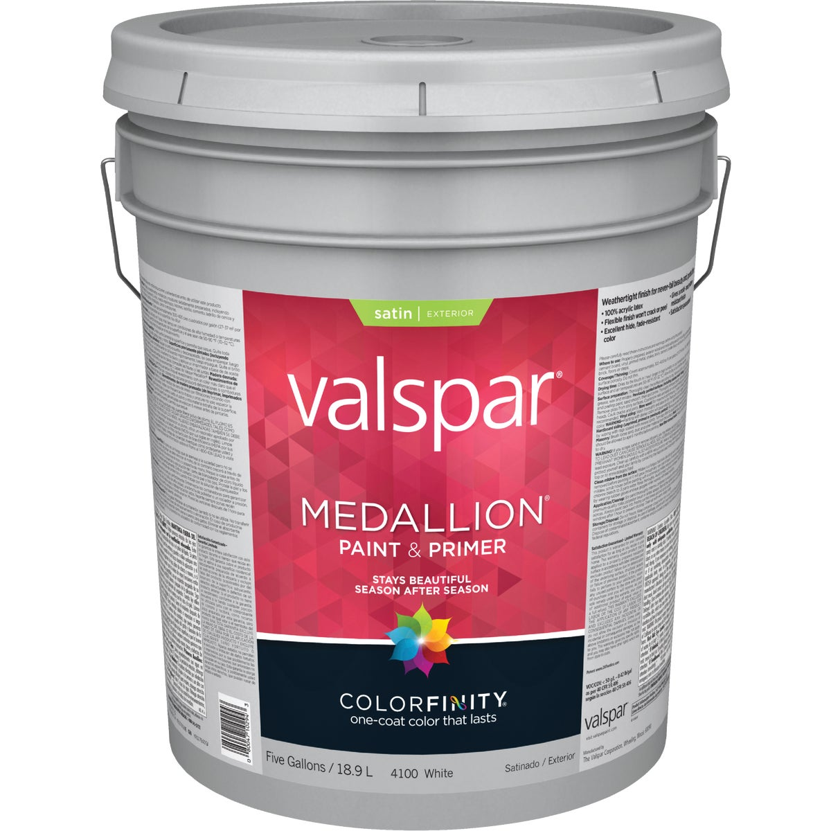 EXT SAT WHITE PAINT - 027.0004100.008 by Valspar Corp