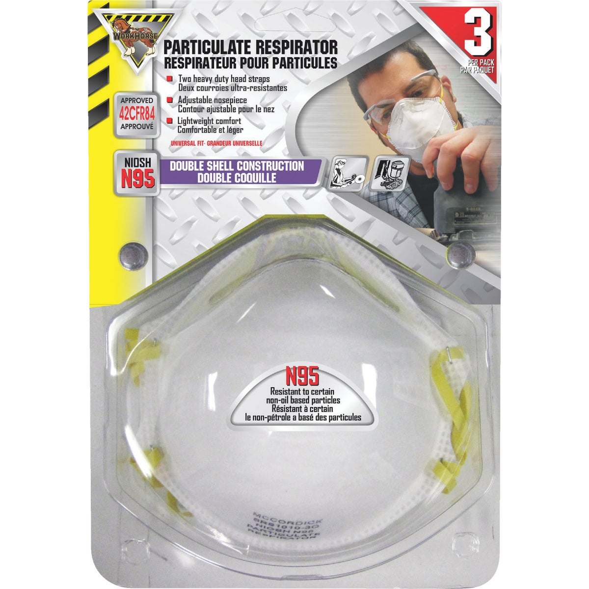 3PK DUST & MIST MASK - 773190 by Mccordick Glove